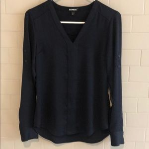 Express Navy Blouse